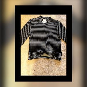 NWT Ambience Black And White Twist Front Crop Top